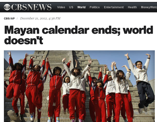 Mayan Doomsday Did not Happen