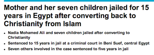 Jail Time for Changing your Religion