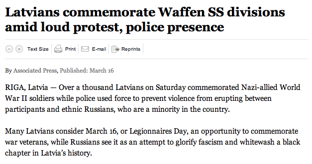 Latvia March for Waffen SS