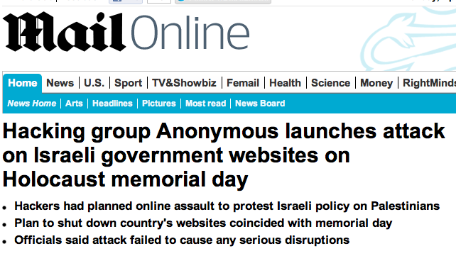 Anonymous Targets Israel or simply after Jews?