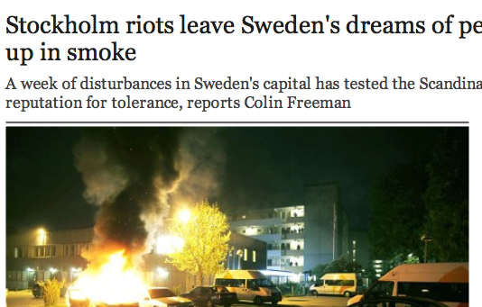 Sweden Riots are Clear - but no one will say the truth
